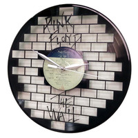 Pink Floyd The Wall Art -Vinyl LP Record Clock or Framed -Great Rock'n'Roll Gift