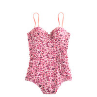 J.Crew Womens Liberty Katie Ann Floral Ruched Underwire Tank
