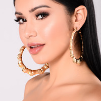 Eden Hoop Earrings - Gold
