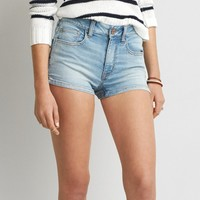 AEO HI-RISE DENIM SHORTIE