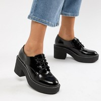 Bershka heeled brogue at asos.com