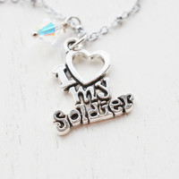 my soldier necklace,inspirational,soldier wife necklace,air force,Patriotic,national guard,military necklace,army wife necklace,i love you