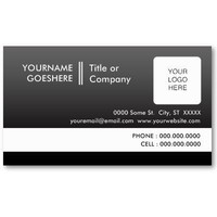 professional fade : (2-sided) : business card template from Zazzle.com