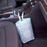 Car Trash Bag ~ Lotus Sky ~ Sky Dots Band ~ Gearshift Handle ~ Oilcloth Lining