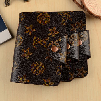 New Credit Card Holder / Case Card Holder Wallet Business European and American Retro Fashion Snaps 10-bit Card  Holder