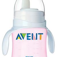 Avent 4 oz Bottle to First Trainer Cup - Pink