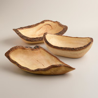 WOOD BARK BOWL