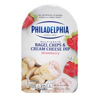 Philadelphia Multigrain Bagel Chips & Cream Cheese Dip Strawberry, 2.5 OZ - Walmart.com