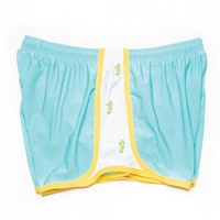 Seahorse Embroidered Shorts in Light Blue by Krass & Co.