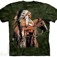 New PAINTED AND PROUD NATIVE AMERICAN T SHIRT