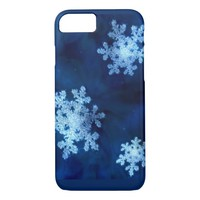 Blue Snowflakes iPhone 8/7 Case