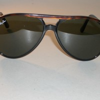 VINTAGE B&L RAY BAN TORT TRIM/BLK STYLE-A G15 UV TRADITIONALS AVIATOR SUNGLASSES