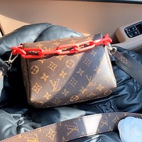 LV retro simple classic presbyopia chain bag shoulder messenger bag