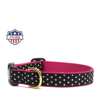 """Up Country Dog Collar - 5/8"""" or 1"""" width - Dots"""
