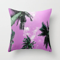 Palm trees Throw Pillow by Nicklas Gustafsson | Society6