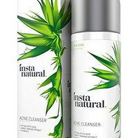 InstaNatural Acne Face Wash - With Salicylic Acid - Best Cleanser Treatment for Smooth Complexion - Clears Blackheads, Hormonal Breakouts, Pimples, Acne Scars & Blemishes - For Men & Women - 6.7 OZ