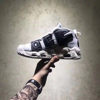 NIKE AIR MORE UPTEMPO OFF WHITE CREAMY-WHITE BLACK