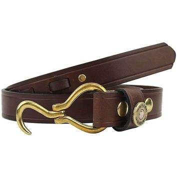 Hoof Pick Belt in Medium Brown by Over Under Clothing