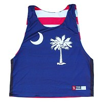 South Carolina and American Flag Sublimated Lacrosse Pinnie