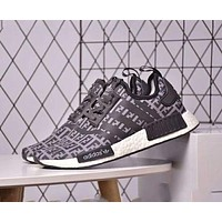 ADIDAS NMD R1 & FENDI traits limited edition classic double F logo tide brand sneakers F-CSXY