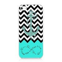 Live the Life You Love Anchor Printing Snap on Case Cover for Iphone 5 5s 2013 NEW