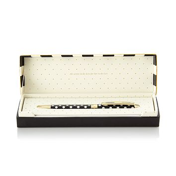 kate spade new york Ball Point Pen - Black Dots