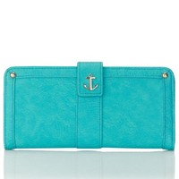 Accessorize Womens Anchors Away Tab Wallet Size One Size Blue