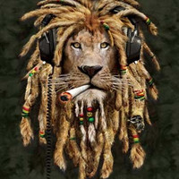 """Far Out Collection Extra Heavy Queen Size Mink Blanket - Rasta Lion (79"""" x 85"""")"""