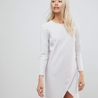 ASOS Asymmetric Clean Shift Mini Dress at asos.com