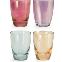 Chez Elle Luster Shotglass - Set of 4 in Glass and Gold