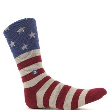Stance The Fourth Crew Socks - Mens Socks - Red/White/Blue - One