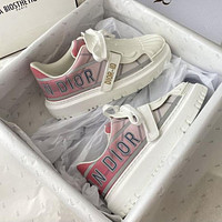 DIOR new reflective letters ladies platform sneakers casual shoes
