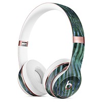 Deep Green and Blue Watercolor Zebra Pattern Full-Body Skin Kit for the Beats by Dre Solo 3 Wireless Headphones
