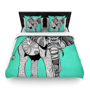 """Pom Graphic Design """"Elephant of Namibia Color"""" Woven Duvet Cover"""