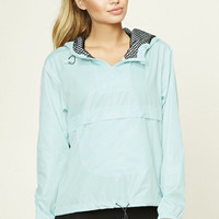 Active Drawstring Hooded Anorak