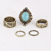 Turquoise Ring Set (+ Colors)