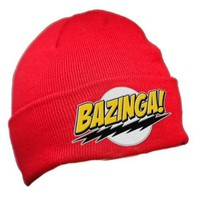 The Big Bang Theory Bazinga Red Knit Hat Beanie - The Big Bang Theory - | TV Store Online