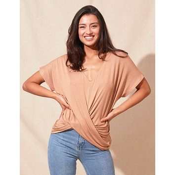 Bamboo Twist Front Top