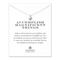 Dogeared, Accomplish Magnificent Things Starburst Necklace, Sterling Silver 16 inch