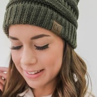 Warm At Last Beanie - Olive