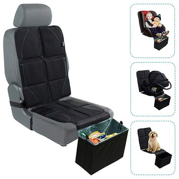 BABYSEATER Car Seat Protector with Trash Can for Babies, Infants and Toddlers With Trash Bin
