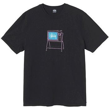 Rolling TV Pigment Dyed T-Shirt Black