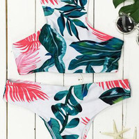 Cupshe Prime of Life Leaves Bikini Set