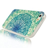 Iphone 4 Case, Jaholan Green Totem Flower Clear Bumper TPU Soft Case Rubber Silicone Skin Cover for iphone 4S 4:Amazon