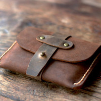 Treasure Chest Credit Card Wallet - Leather Wallets Quality Made for the Minimalist - Oiled Leather Wallets