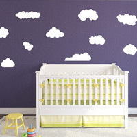 Wall Decal Clouds Set of 10 Kids Room Nursery Wall Decals 22398