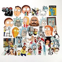2017 New 35pcs/lot  Animation Rick and Morty Luggage Stickers