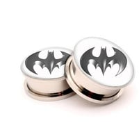 Handmade batman  Picture Ear Gauges with Screw on-8g,6g,4g,2g,0g up to 1 inch = 1927869828