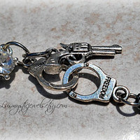 Gun abd Cuffs Belly Ring, Hipster, Ready to Ship, Direct checkout