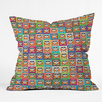 Sharon Turner Peace Campers Outdoor Throw Pillow